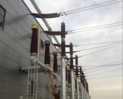 State Grid Tianjin Yongjiqu New Substation Spraying Construction